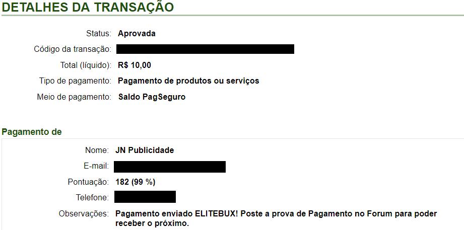 pagamento elitebux