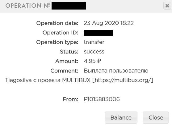pagamento multibux 4.95 rublos